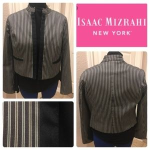 New Isaac Mizrahi striped blazer size small